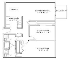 Two Bedroom Floor Plan by Woodhaven Apartments U0026 Townhomes Apartments For Rent In Denver Co