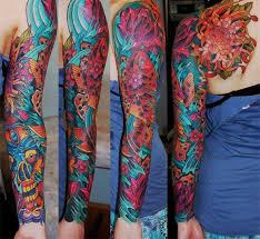 And Demons Sleeve Tattoos Fish And Teeth Sleeve Best Ideas Gallery