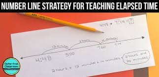 elapsed time activities u0026 the number line strategy clutter free