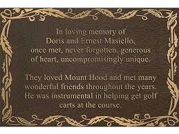 bronze memorial plaques metal plaques bronze metal plaques brass metal plaque
