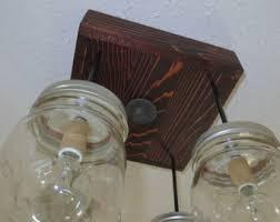rustic industrial modern handmade mason jar chandelier