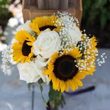 sunflower bouquets sunflower wedding bouquets