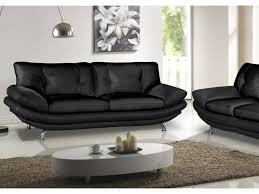 canapé cuir noir 3 places canapé et fauteuil en simili noir ou blanc forrest