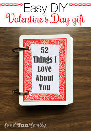 52 things i love about you easy diy valentine u0027s day gift