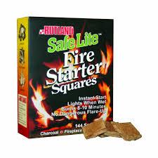amazon com rutland 50b safe lite fire starter squares 144