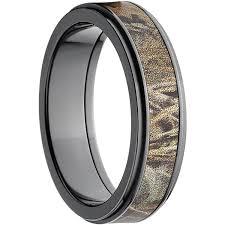 black zirconium wedding bands realtree max 4 men s camo 6mm black zirconium wedding band with