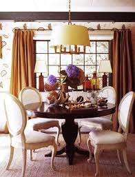 Burnt Orange Curtains And Drapes Orange Curtains Contemporary Dining Room At Home In Arkansas