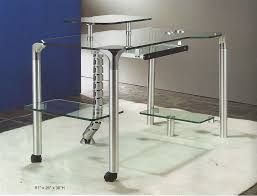 Modern Glass Desk With Drawers Glass Computer Desk Glass Computer Desk And Chair Ideas