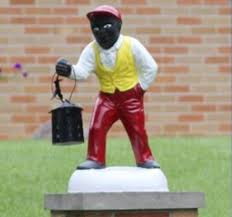 black faced lawn jockey creating controversy