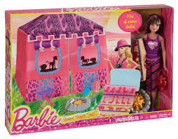 amazon com barbie sisters safari doll and tent playset toys