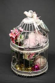 Home Decor Bird Cages Decorative Bird Cage In Shabby Chic Style This Unique Handmade