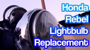 how to replace lightbulb headlight on a honda rebel revvinrav