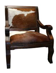 cowhide den chair western dining chairs free shipping