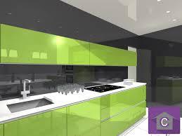 modelisation cuisine cuisine leicht couleur verte