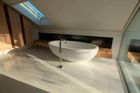 Bathtub Backsplash by Cozy And Serene Bathroom Design Featuring Oval White Free Standing