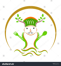 vector drawing of restaurant logo design isolated on transparent