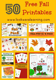 free fall printables look we u0027re learning