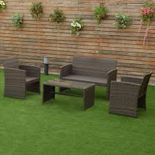 Outdoor Patio Wicker Furniture by 4 Pcs Patio Rattan Wicker Furniture Set Outdoor Furniture Sets