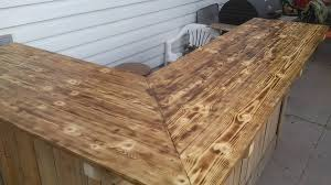 Building A Wood Bar Top Wooden Pallet Sectional Bar Table