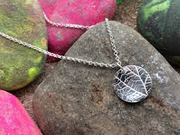 silver leaf necklace pendant images Silver leaf necklace silverbean jewellery jpg