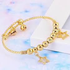 star bangle bracelet images Baby children 39 s jewellery 18k yellow gold filled gf charm ball jpg