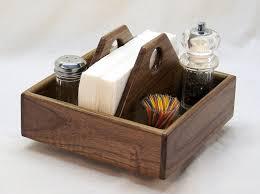 lazy susan kitchen caddy napkin holder smart home organizer