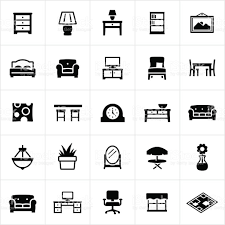 home furniture and decor icons stock vector art 476601392 istock