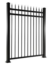 halloween fences aluminum fence u2013 picket top double bar design with finials