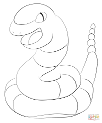 ekans coloring page free printable coloring pages