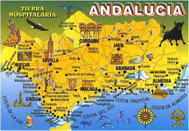 Andalucia Spain Map by Cordoba Have Bag Will Travel