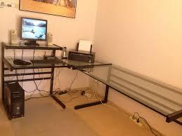 L Shaped Glass Desks Top Glass L Shaped Desk Ceg Portland Tempered Glass L Shaped Desk