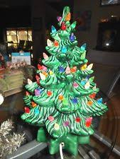 ceramic christmas tree with lights cracker barrel ceramic christmas tree lights vintage new ebay