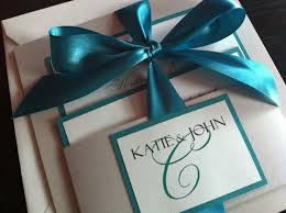 silver and white invitations ivory white silver teal handmade wedding invitation