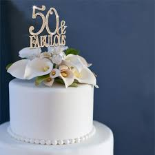 50 and fabulous cake topper 50 fabulous gold rhinestone cake topper partyplanhq