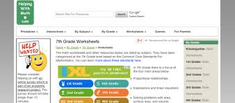 8 websites to download 7th grade math worksheets