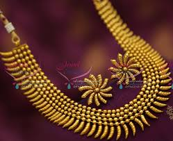gold necklace sets designs images Nl6584 beads cone design stylish antique dull gold necklace set JPG