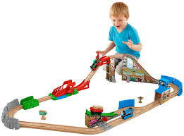 Amazon Fisher Price Thomas Train Wooden Railway Race