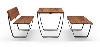 Bench Table Nuvola Straight Bench And Wood Table Seating System Id Metalco