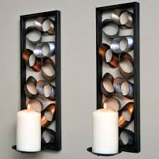 Glass Candle Wall Sconces Wall Ideas Metal Wall Candle Holders Metal Wall Candle Holders