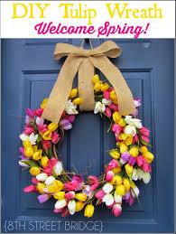 Tulip Wreath 8th Street Bridge Diy Tulip Wreath Welcome Spring