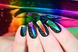 simply nailogical rainbow foil and holo