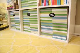 Canvas Storage Bins Ten June How To Spruce Up Cloth Storage Bins With Fabric