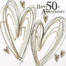 50th wedding anniversary greetings finished golden wedding anniversary card karenza paperie