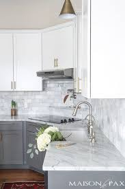 kitchen cabinet marble top gray and white and marble kitchen reveal maison de pax