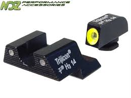 trijicon black friday glock g42 g43 3 dot hd night sights black with yellow