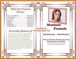 template for funeral service funeral programs exles nfgaccountability