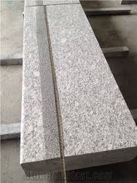 G602 White Grey Granite Stairs Steps With Anti Slip Grooving