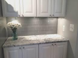 gray backsplash kitchen creative white kitchen grey backsplash home design