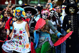 day of the dead 2017 in mexico why are skull costumes worn what