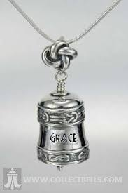 personalized silver gifts bell pendant to be words and let it be